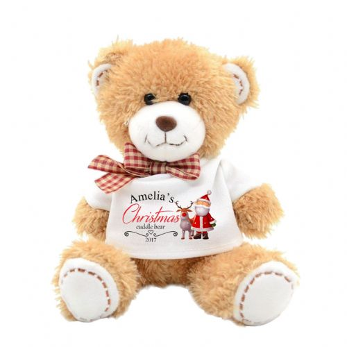 Personalised Christmas Santa Cute Teddy Bear N15